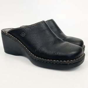 Born Black Leather Mules Size 9